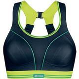 Sports Bra Shock Absorber Ultimate Run Bra - Black/Lemon