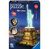3D-Jigsaw Puzzles Ravensburger Statue of Liberty at Night 108 Pieces