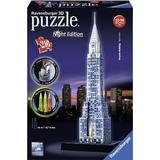 3D-Jigsaw Puzzles Ravensburger Chrysler Building Night Edition