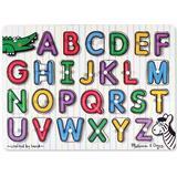 Knob Puzzles on sale Melissa & Doug See-Inside Alphabet Peg Puzzle 26 Pieces