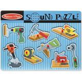 Melissa & Doug Construction Tools Sound Peg Puzzle
