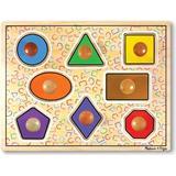 Melissa & Doug Deluxe Jumbo Knob Wooden Puzzle - Geometric Shapes