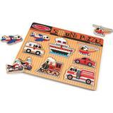 Knob Puzzles on sale Melissa & Doug Vehicles Sound Puzzle 8 Pieces 725