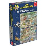 Classic Jigsaw Puzzles Jumbo Storm & Safari 2 in1 1000 Pieces