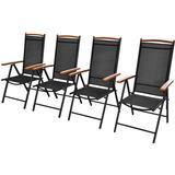 Outdoor Furniture vidaXL 41733 4-pack Garden Dining Chair