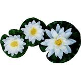 Garden Ornaments Pondteam Floating Water Lily (Set of 3)