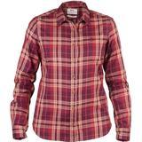 Women's Clothing Fjällräven Övik Flannel Shirt - Dark Garnet