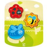 Knob Puzzles Hape Dynamic Insect 7 Pieces