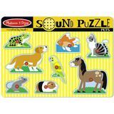 Melissa & Doug Pets Sound Puzzle 8 Pieces