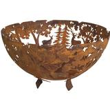 Fire Place Esschert Design Fire Bowl Laser Cut Rust FF262