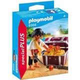 Playmobil pirate Toy Figures Playmobil Pirate with Treasure Chest 9358