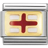 Nomination Composable Classic Link England Flag Charm - Gold/Red/White