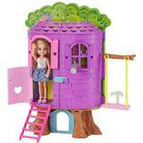 Barbie doll and doll house Toys Barbie Club Chelsea Treehouse