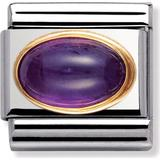 Nomination Composable Classic Link February Birthstone Charm - Silver/Gold/Amethyst