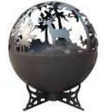 Fire Basket Lifestyle Deer Globe LFS751