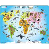 Classic Jigsaw Puzzles Larsen World Animals 28 Pieces