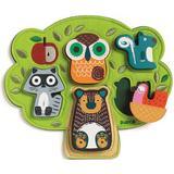 Knob Puzzles Djeco Relief 5 Pieces