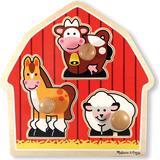 Knob Puzzles Melissa & Doug Barnyard Animals Jumbo Knob Puzzle