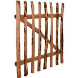 Gate vidaXL Single Fence Gate Impregnated Hazel 100x100cm