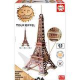3D-Jigsaw Puzzles Educa 3D Monument Puzzle Tour Eiffel 63 Pieces