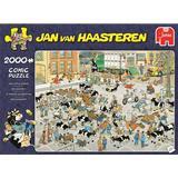 Jigsaw Puzzles Jumbo Jan Van Haasteren The Cattle Market 2000 Pieces
