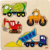 Jigsaw Puzzles Goki Building Site Vehicles 12 Pieces