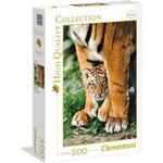 Clementoni High Quality Collection Bengal Tiger Cub Between Its Mother's Legs 500 Pieces