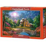 Classic Jigsaw Puzzles Castorland Cottage in The Moon Garden 1000 Pieces