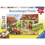 Jigsaw Puzzles Ravensburger Working on the Farm 2x12 Pieces