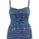Women's Clothing Curvy Kate Instinct Tankini Top - Deep Sea Blue