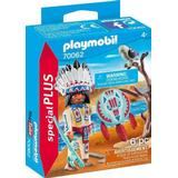 Action Figures Playmobil Native American Chief 70062