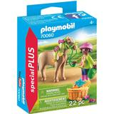 Figurines Playmobil Girl with Pony 70060
