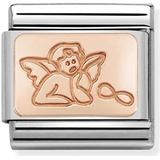 Charms & Pendants Nomination Nomination Classic Guardian Angel Charm - Rose Gold/Silver
