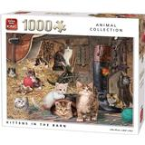 Classic Jigsaw Puzzles King Animal Collection Kitten in The Barn 1000 Pieces