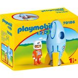 Toy Figures Playmobil Astronaut with Rocket 70186