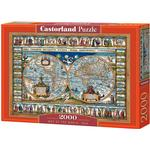 Castorland Map of The World 1639 2000 Pieces