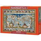 Classic Jigsaw Puzzles Castorland Map of The World 1639 2000 Pieces