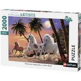 Classic Jigsaw Puzzles NATHAN Horses of the dawn 2000 Pieces