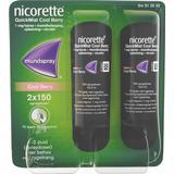 Nicotine Spray Medicines Nicorette Quickmist Cool Berry Duo 1mg 2pcs