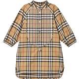 Children's Clothing Burberry Vintage Check Cotton Shirt Dress - Antique Yellow (80048661)