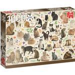 Jumbo Francien van Westering Cats Poster 1000 Pieces