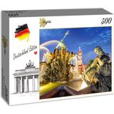 Classic Jigsaw Puzzles Grafika Germany Edition - Berlin Alexanderplatz and Rotes Rathaus 300 Pieces