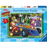 Floor Jigsaw Puzzles on sale Ravensburger Mickey & the Roadster Racers 24 Pieces
