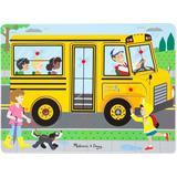 Knob Puzzles Melissa & Doug The Wheels on the Bus Sound 10 Pieces