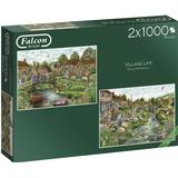 Classic Jigsaw Puzzles on sale Falcon Village Life 2x1000 Pieces
