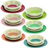 Plate Sets Tognana Linea Louise Daisy Plate Sets 18 pcs