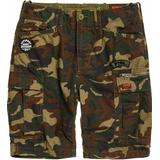 Men's Clothing Superdry Parachute Cargo Shorts - Olive Alpine Camo
