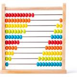 Woody Abacus Natural with Colored Beads