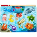 Knob Puzzles Melissa & Doug Magnetic Fishing Game 10 Pieces