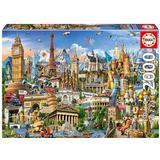 Jigsaw Puzzles Educa Europe Landmarks 2000 Pieces